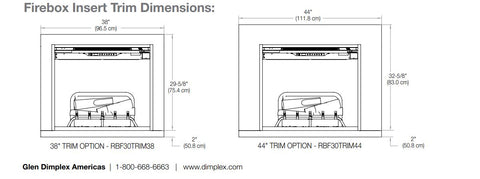 Image of 38'' Trim Kit Accessory for Dimplex RBF30 - Revillusion Firebox