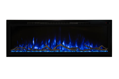 Modern Flames Spectrum Slimline 60 inch Wall Mount Built in Electric Fireplace Insert | Fully Recessed 4'' Wall | SPS-60B | Electric Fireplaces Depot