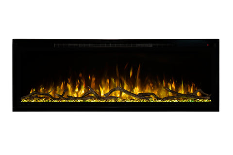 Image of Modern Flames Spectrum Slimline 50 inch Wall Mount Built in Electric Fireplace Insert | Fully Recessed 4'' Wall | SPS-50B | Electric Fireplaces Depot