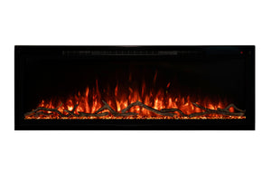 Modern Flames Spectrum Slimline 60'' Wall Mount / Recessed Linear Electric Fireplace