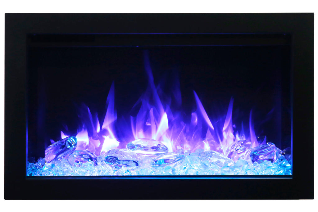 Amantii Traditional Series 38 Inch Built-In Electric Firebox Insert | Electric Fireplace Heater | TRD-38 | Electric Fireplaces Depot