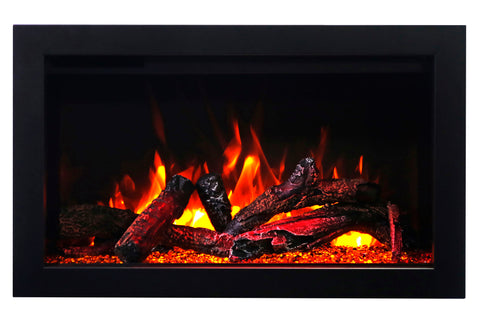 Image of Amantii Traditional Series 33 Inch Built-In Electric Firebox Insert | Electric Fireplace Heater | TRD-33 | Electric Fireplaces Depot