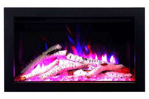 Image of Amantii Traditional Series 26 Inch Built-In Electric Firebox Insert | Electric Fireplace Heater | TRD-26 | Electric Fireplaces Depot