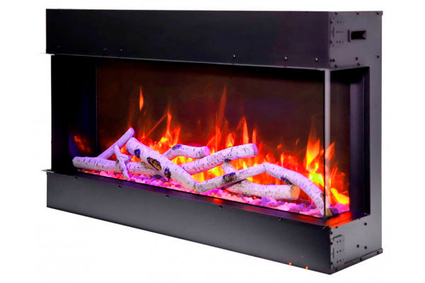 Amantii Tru View Slim 50-inch 3-Sided View Built In Electric Fireplace with Heater | 50-TRV-SLIM | Electric Fireplaces Depot