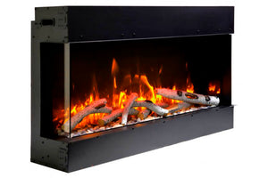 Amantii Panorama Tru View Slim 50-inch 3-Sided Built In Indoor/Outdoor Electric Fireplace