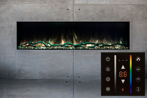 "Image of Modern Flames Landscape Pro Slim 44"" Built In Linear Electric Fireplace"