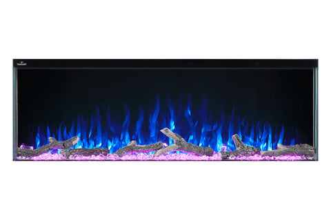 Image of Napoleon Trivista 50-inch 3 Sided Built In Fully Recessed Electric Fireplace | NEFB50H-3SV | 2 Sided Electric Firepalce Insert | Electric Fireplaces Depot