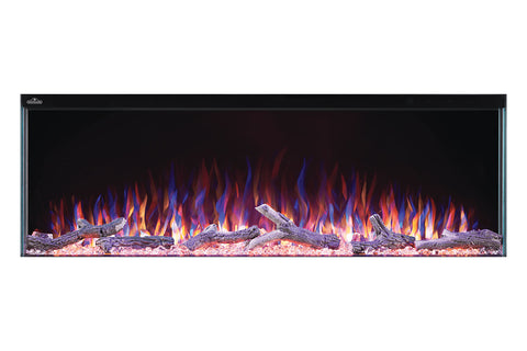 Image of Napoleon Trivista 50-inch 3 Sided Built In Fully Recessed Electric Fireplace | NEFB50-3SV | 2 Sided Electric Firepalce Insert | Electric Fireplaces Depot