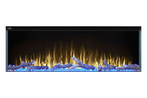 Napoleon Trivista 50-inch 3 Sided Built In Fully Recessed Electric Fireplace | NEFB50-3SV | 2 Sided Electric Firepalce Insert | Electric Fireplaces Depot