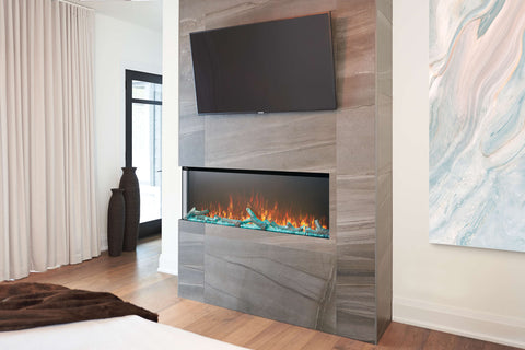Napoleon Trivista 50-inch 3 Sided Built In Fully Recessed Electric Fireplace | NEFB50H-3SV | 2 Sided Electric Firepalce Insert | Electric Fireplaces Depot