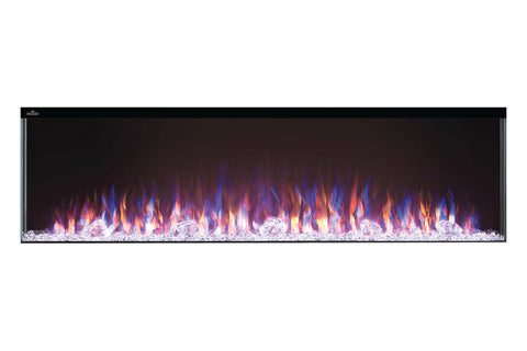 Napoleon Trivista 60-inch 3 Sided Built In Fully Recessed Electric Fireplace | NEFB60-3SV | 2 Sided Electric Firepalce Insert - Electric Fireplaces Depot
