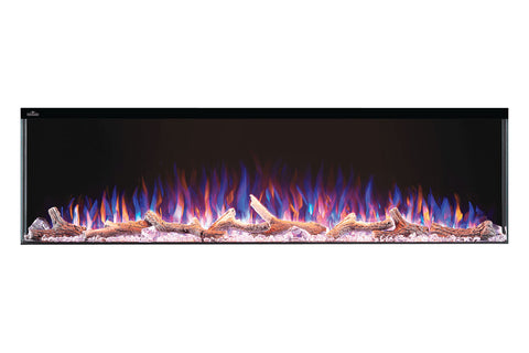 Image of Napoleon Trivista 60-inch 3 Sided Built In Fully Recessed Electric Fireplace | NEFB60H-3SV | 2 Sided Electric Firepalce Insert - Electric Fireplaces Depot