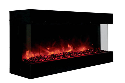 Image of Amantii Panorama 40 inch 3-Sided Built-in Electric Fireplace - Heater - Electric Fireplaces Depot