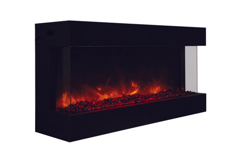 Amantii Panorama 50 inch 3-Sided Built-in Electric Fireplace - Heater - Electric Fireplaces Depot