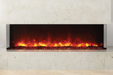 Image of Amantii Panorama 60 inch 3-Sided Built-in Electric Fireplace - Heater - Electric Fireplaces Depot