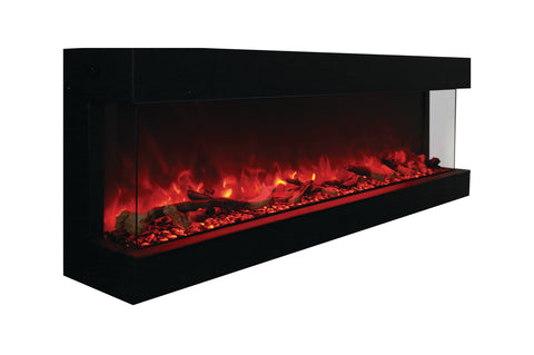 Amantii Panorama 72 inch 3-Sided Built-in Electric Fireplace - Heater - Electric Fireplaces Depot