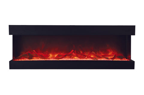 Amantii Panorama Tru View 72-inch 3-Sided View Built In Electric Fireplace