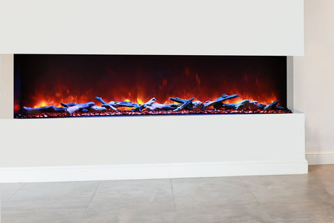 Image of Amantii Panorama 72 inch 3-Sided Built-in Electric Fireplace - Heater - Electric Fireplaces Depot