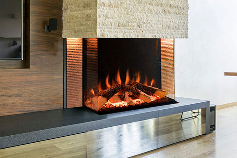 Image of Electric Modern Evonicfires Halo Series Tyrell 32 inch Built-In 3-sided Electric Fireplace Firebox | EV-FP-Halo-TYRELL | Electric Fireplaces Depot