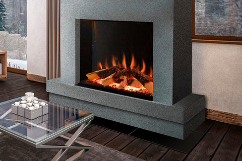 Image of Electric Modern Evonicfires Halo Series Tyrell 32 inch Built-In Electric Fireplace | Firebox  Insert EV-FP-Halo-TYRELL | Electric Fireplaces Depot