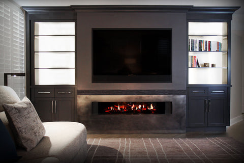 Image of Dimplex 55 Inch Opti-V Duet Virtual Built-In Eelectric Fireplace - VF5452L - Electric Fireplaces Depot