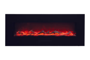 Amantii 48'' Built In Flush Mount / Wall Mount Linear Electric Fireplace