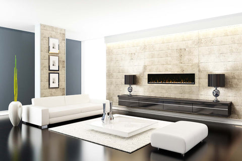 "Image of Dimplex IgniteXL 74"" Linear Built in Electric Fireplace"