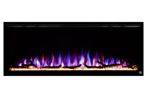 "Image of Touchstone Sideline Elite 50"" Built-In Recessed Flush Mount Electric Fireplace - 80036 - Electric Fireplaces Depot"