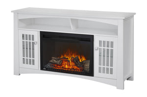 Napoleon Adele Electric Fireplace Media Console in White Finish