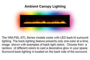 Amantii 72'' Built In Flush Mount / Wall Mount Linear Electric Fireplace