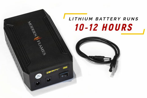 Lithium Battery Pack for Modern Flames 20'' and 26'' Sunset Charred Oak Electric Logs