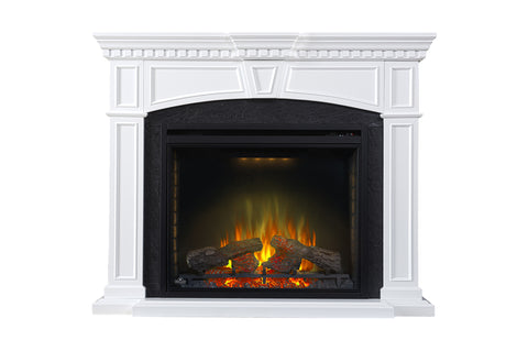 Image of Napoleon Taylor Electric Fireplace Mantel Package in White
