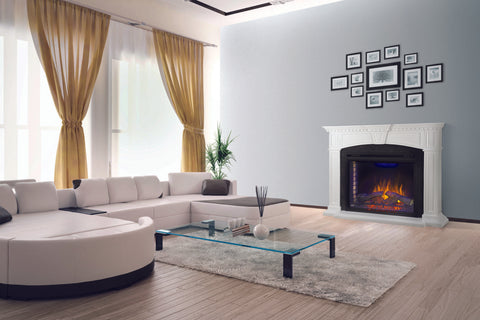 Napoleon Taylor Electric Fireplace Mantel Package in White