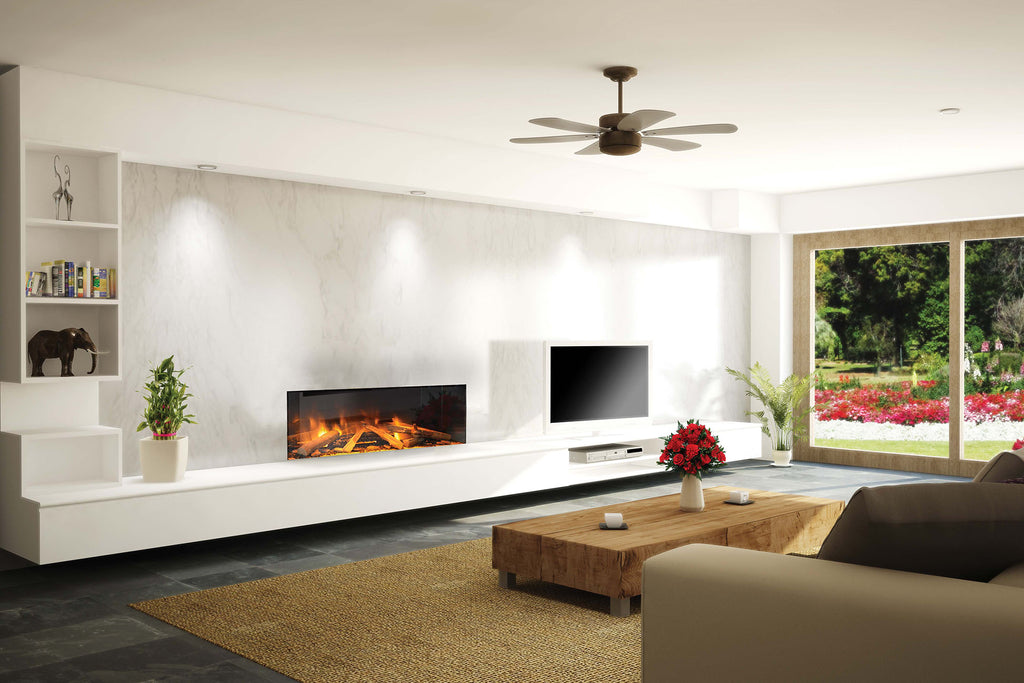 Electric Modern EvonicFires 40 Inch Built-In Wall Mount Linear Electric Fireplace - E40 - Electric Fireplaces Depot