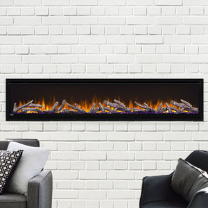 Napoleon Alluravision 74'' Deep Linear Wall Mount Built In Fully Recessed Electric Fireplace | NEFL74CHD - Electric Fireplaces Depot