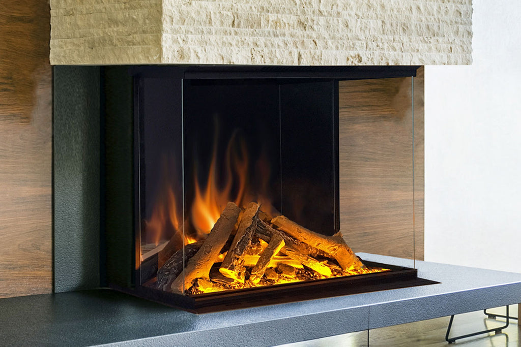 Electric Modern Evonicfires 32 Inch Built-In Wall Mount 3-sided Electric Fireplace - E32-3S - Electric Fireplaces Depot