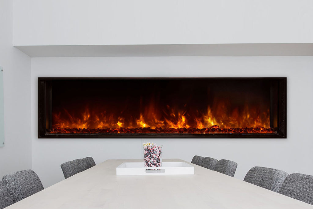 "Modern Flames Landscape Full View 60"" Built-In Linear Electric Fireplace - Electric Fireplaces Depot"