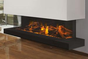 Electric Modern Evonicfires 60'' Built-In 3-sided Electric Fireplace - E60-3S