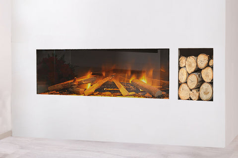 Image of Electric Modern EvonicFires 40 Inch Built-In Wall Mount Linear Electric Fireplace - E40 - Electric Fireplaces Depot
