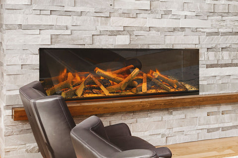 Image of Electric Modern EvonicFires 60 Inch Built-In Wall Mount Linear Electric Fireplace - E60 - Electric Fireplaces Depot