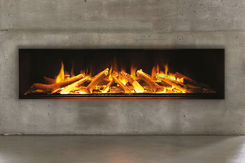 Electric Modern Evonicfires 72 Inch Built-In Wall Mount Linear Electric Fireplace - E72 - Electric Fireplaces Depot
