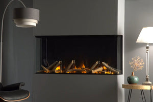 Electric Modern Evonicfires 40 Inch Built-In Wall Mount 3-sided Electric Fireplace - E40-3S - Electric Fireplaces Depot