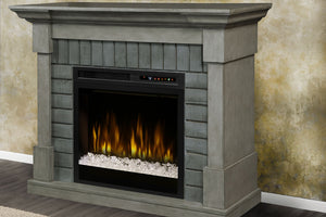 Dimplex Royce Electric Fireplace Mantel Package Smoke Stack Grey | 28'' XHD Firebox Acrylic Ice
