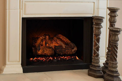 Modern Flames 26 Inch Sunset Charred Oak Wifi Battery Operated Electric Fireplace Log Insert | SCO-26EL | Electric Fireplaces Depot