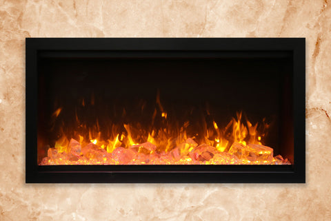 Image of Amantii Symmetry 34'' Extra Tall & Deep Built In Linear Electric Fireplace