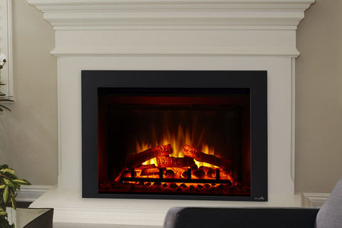 Image of Hearth & Home SimpliFire 30-inch Plug-In Electric Firebox  | Electric Fireplace | SF-INS30-BK  | Electric Fireplaces Depot