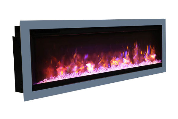 Amantii Symmetry 88'' Built In Fully Recessed Flush Mount Linear Electric Fireplace | SYM-88 | Electric Fireplaces Depot