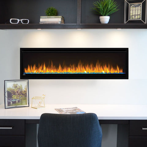 Napoleon Alluravision 60-Inch Wall Mount Electric Fireplace - Slim - Linear - NEFL60CHS - NEFL60CHS1- Electric Fireplaces Depot
