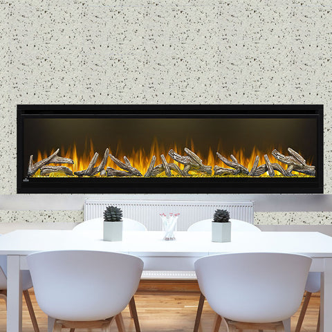 Image of Napoleon Alluravision 74-inch Deep Wall Mount Electric Fireplace - Linear - NEFL74CHD - NEFL74CHD1 - Electric Fireplaces Depot