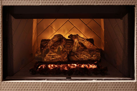 Image of Modern Flames 20 Inch Sunset Charred Oak Wifi Battery Operated Electric Fireplace Log Insert | SCO-20EL | Electic Fireplaces Sepot